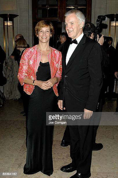 Sara Paley and president of The New School Bob Kerrey attend The Frick Collection Autumn dinner at The Frick Collection on October 20 2008 in New...