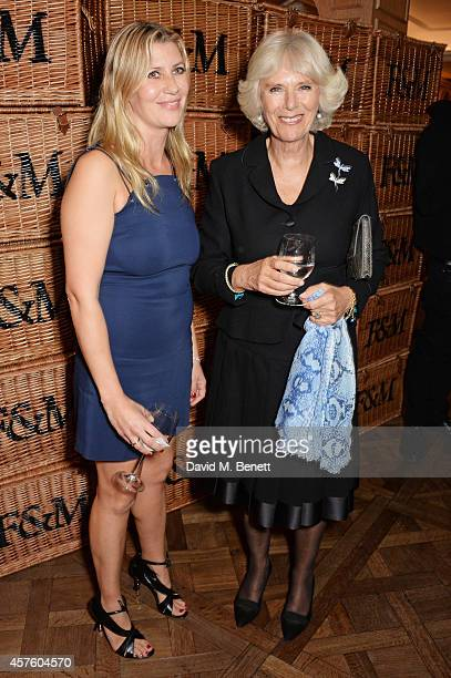 Sara Parker Bowles and Camilla Duchess of Cornwall attend Fortnum Mason's Diamond Jubilee Tea Salon for the launch of Tom Parker Bowles' new book...
