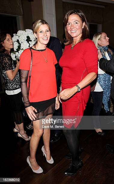 Sara Parker Bowles and Catherine Fairweather attend a cocktail party hosted by new EditorinChief of Harper's Bazaar UK Justine Picardie Manolo...