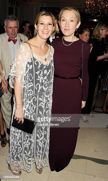 Sara Parker Bowles and editor of Harper's Bazaar UK Justine Picardie attend the Harper's Bazaar Women of the Year Awards 2012 in association with...