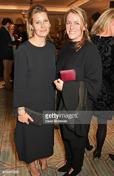 Sara Parker Bowles and Laura Lopes attend the launch of Fortnum Mason The Cook Book by Tom Parker Bowles at Fortnum Mason on October 18 2016 in...
