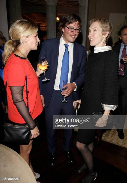 Sara Parker Bowles Harry Lopes and new EditorinChief of Harper's Bazaar UK Justine Picardie attend a cocktail party which Justine hosted with Manolo...