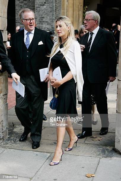 Sara ParkerBowles at St Paul's Church in Knightsbridge for a memorial service for Major Bruce Shand on September 11 2006 in London England