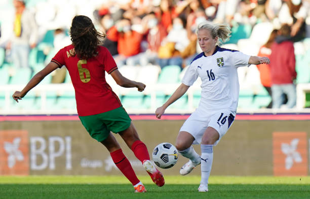 PRT: Portugal v Serbia: Group H - FIFA Women's World Cup 2023 Qualifier