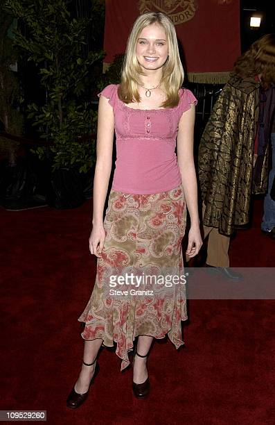 Sara Paxton during 'Harry Potter and the Chamber of Secrets' Premiere Los Angeles Arrivals at Mann Village Theatre in Westwood California United...