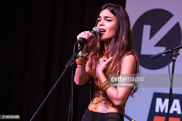 Sara Pi performs on the International Day Stage at Austin Convention Center on March 19 2016 in Austin Texas
