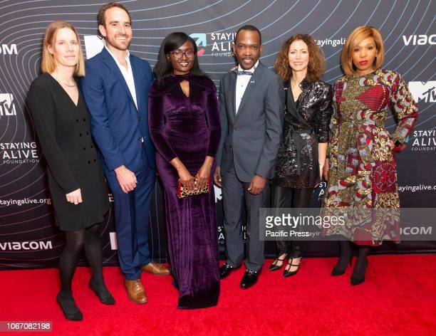 Sara Piot, Tyler Spencer, Shirley Sabrina Oruko, Henry Luyombya, Georgia Arnold, Swati Dlamini-Mandela attend MTV Staying Alive Foundation Gala at...