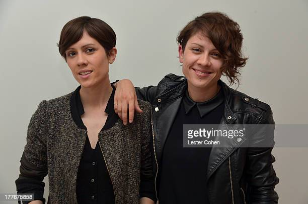 Sara Quin and Tegan Quin of Tegan Sara attend Lucky Brand Celebration of California Culture and Style on August 24 2013 in Malibu California