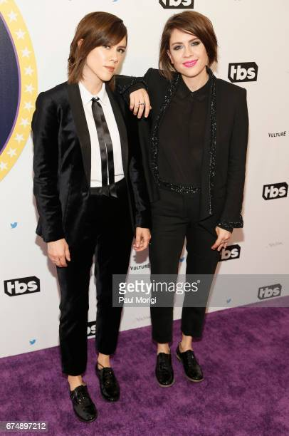 Sara Quin and Tegan Quinn of Tegan and Sara attend 'Not the White House Correspondents' Dinner' presented by Full Frontal With Samantha Bee at DAR...