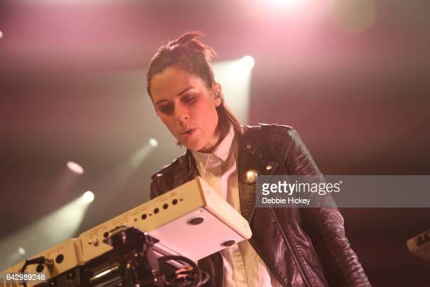 Sara Quin of Tegan and Sara perform on stage at Vicar Street on February 19 2017 in Dublin Ireland