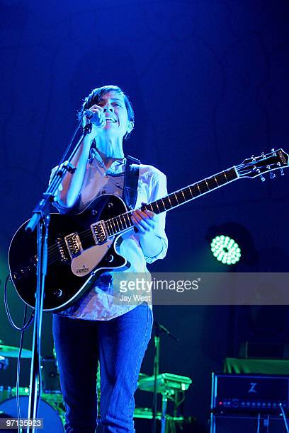 Sara Quin of Tegan and Sara performs in concert at The Bass Concert Hall on February 26 2010 in Austin Texas