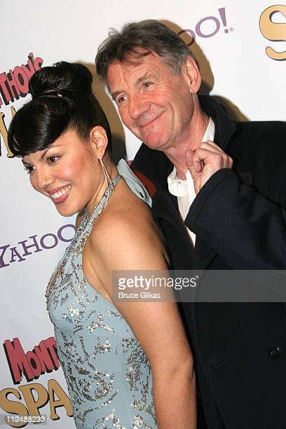 Sara Ramirez and Michael Palin during Monty Python's 'Spamalot' Opening Night on Broadway After Party at Roseland Ballroom in New York City New York...