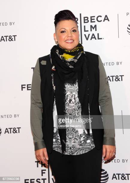 Sara Ramirez attends 2017 Tribeca Film Festival 'The Death And Life Of Marsha P Johnson' at Cinepolis Chelsea on April 21 2017 in New York City