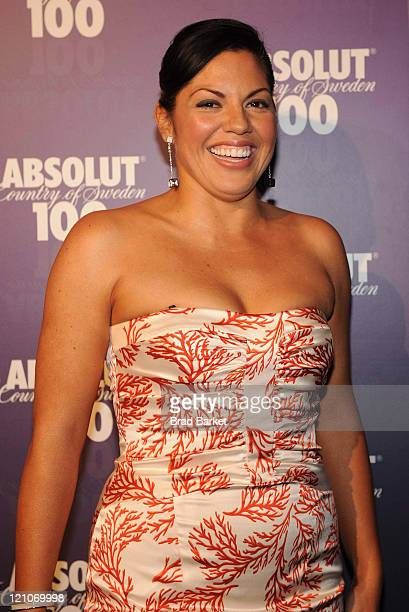 Sara Ramirez attends ABSOLUT 100's Official Concert After Party for Kanye West at 1Oak on May 13 2008 in New York City
