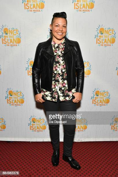 Sara Ramirez attends the 'Once On This Island' Broadway Opening Night at Circle in the Square Theatre on December 3 2017 in New York City