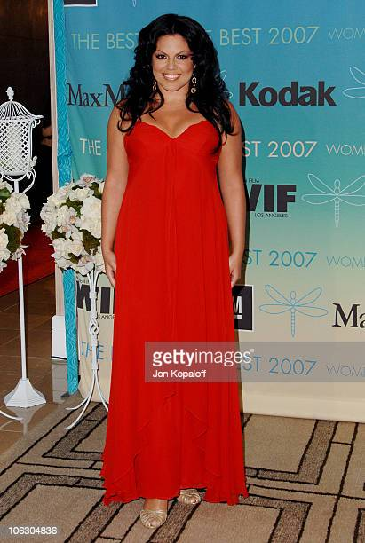 Sara Ramirez during 2007 Women in Film Crystal Lucy Awards Arrivals at The Beverly Hilton Hotel in Beverly Hills California United States