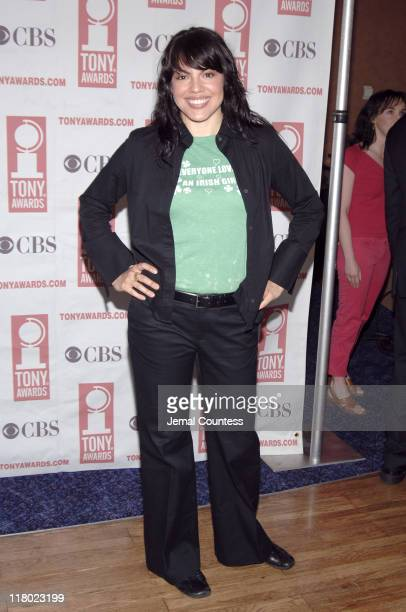 Sara Ramirez during 59th Annual Tony Awards 'Meet The Nominees' Press Reception at The View at The Marriot Marquis in New York City New York United...