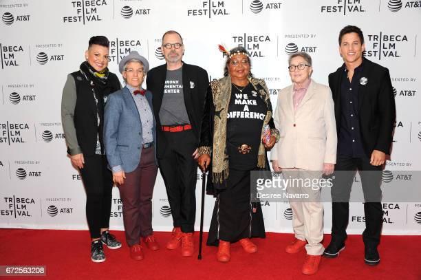 Sara Ramirez LA Teodosio David France Victoria Cruz Joy Tomchin and Mike C Manning attend 2017 Tribeca Film Festival 'The Death And Life Of Marsha P...