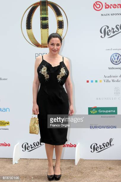 Sara Ricci attends Globi D'Oro awards ceremony at the Academie de France Villa Medici on June 13 2018 in Rome Italy