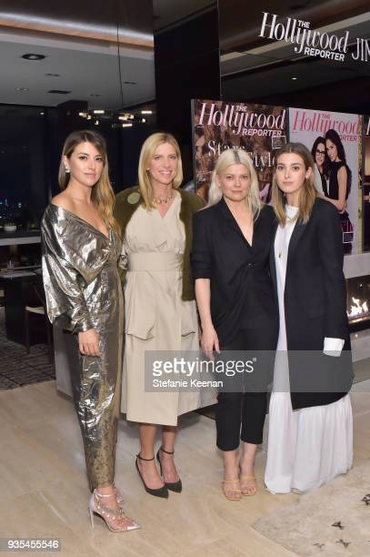 Sara Riff Petra Flannery Kate Young and Jamie Mizrahi attend The Hollywood Reporter and Jimmy Choo Power Stylists Dinner on March 20 2018 in Los...