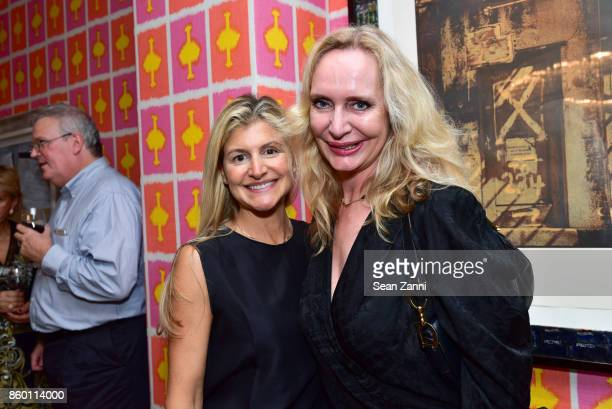 Sara Roka and MarieClaire Gladstone attend the launch of The Collector Geneva's Sophie Bonvin Code Collection in Collaboration with artist Bill Claps...
