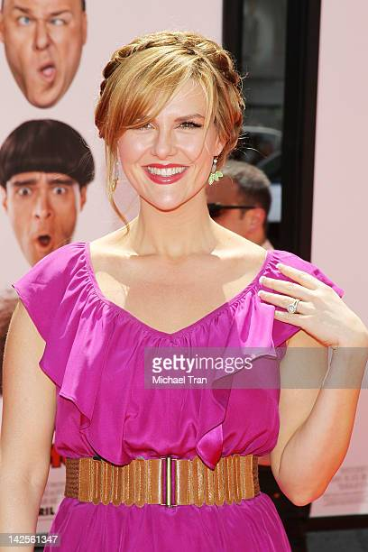 Sara Rue arrives at Los Angeles premiere of The Three Stooges held at Grauman's Chinese Theatre on April 7 2012 in Hollywood California