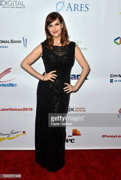 Sara Rue attends the 18th Annual Voices Of Our Children Fundraiser Gala And Awards Arrivals at Lowes Hollywood Hotel on September 29 2018 in...