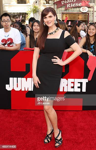 Sara Rue attends the 22 Jump Street Los Angeles premiere on June 10 2014 held at the Regency Village Theatre in Westwood California