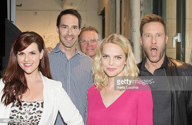 Sara Rue Mike Kosinski David Rasche Mircea Monroe and Michael Rosenbaum talk about their show 'Impastor' at AOL Studios In New York on July 13 2015...