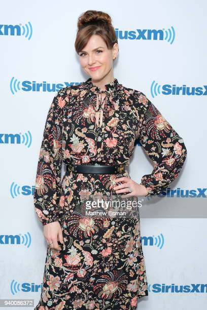 Sara Rue visits the SiriusXM Studios on March 30 2018 in New York City