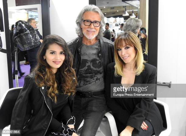 Sara Salamo Alberto Cerdan and Edurne attend Cosmobeauty on January 20 2018 in Barcelona Spain
