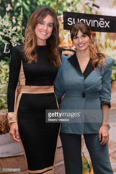 Sara Salamo and Isabel Jimenez attend a seminar about maternity and beauty on September 25 2019 in Madrid Spain