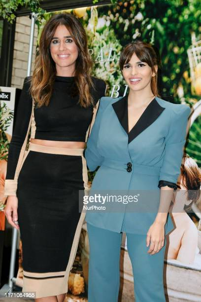 Sara Salamo and Isabel Jimenez attends a seminar about maternity and beauty on September 25 2019 in Madrid Spain