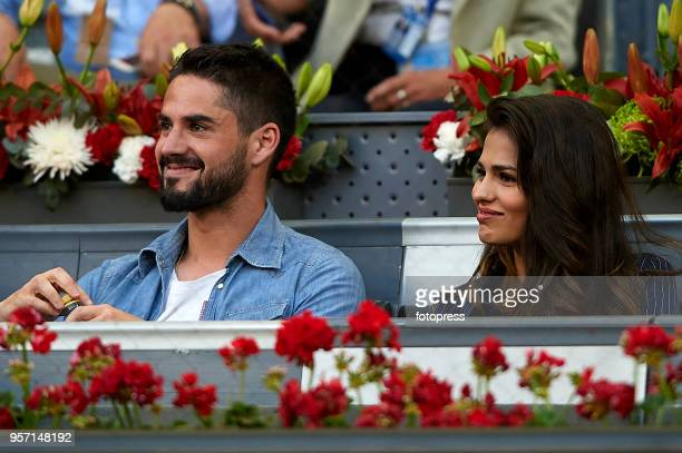 Sara Salamo and Isco Alarcon attend day six of the Mutua Madrid Open at La Caja Magica on May 10 2018 in Madrid Spain