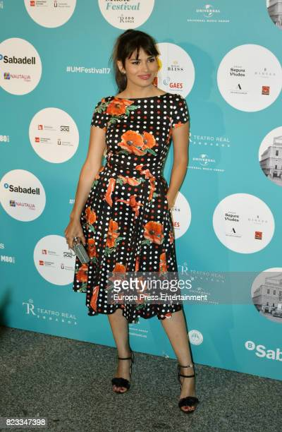 Sara Salamo attends David Bisbal concert at the Royal Theatre on July 26 2017 in Madrid Spain
