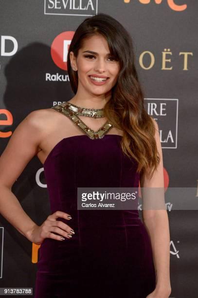 Sara Salamo attends Goya Cinema Awards 2018 at Madrid Marriott Auditorium on February 3 2018 in Madrid Spain