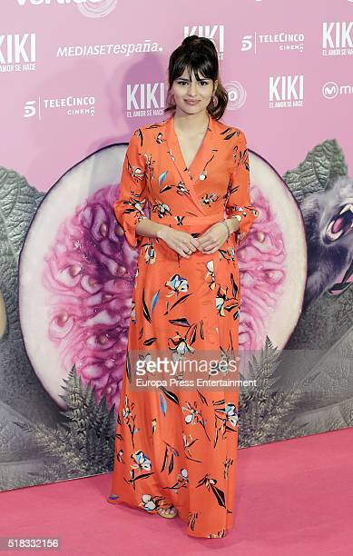 Sara Salamo attends 'Kiki el amor se hace' premiere at Capitol cinema on March 30 2016 in Madrid Spain