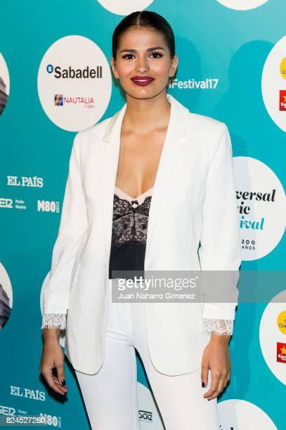 Sara Salamo attends Luis Fonsi concert at the Royal Theatre on July 30 2017 in Madrid Spain
