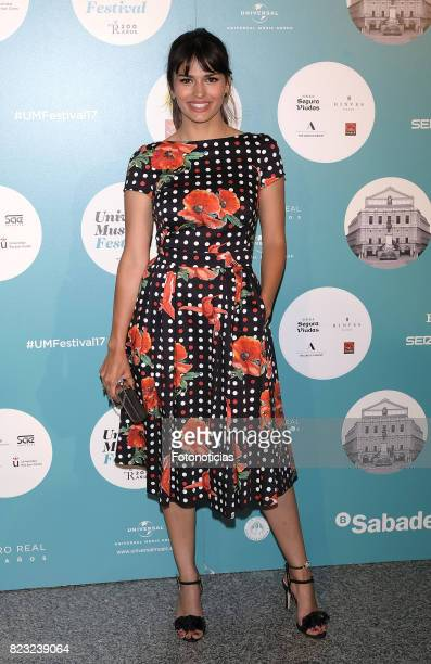 Sara Salamo attends the David Bisbal Universal Music Festival concert at The Royal Theater on July 26 2017 in Madrid Spain