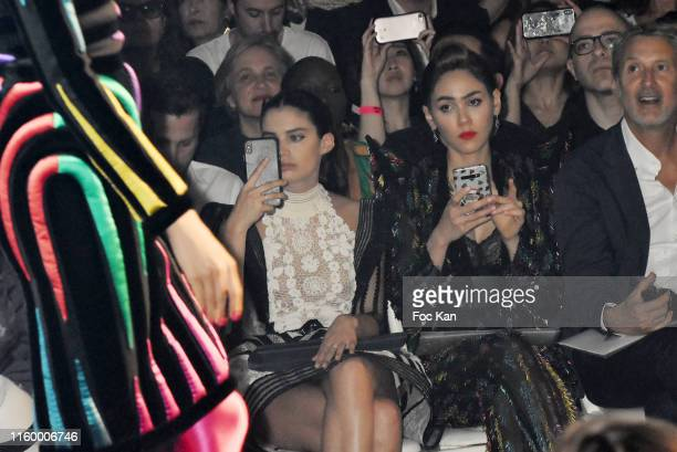 Sara Sampaio and Araya Alberta Hargate attends the Jean Paul Gaultier Haute Couture Fall/Winter 2019 2020 show as part of Paris Fashion Week on July...
