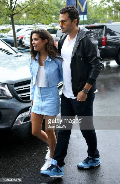 Sara Sampaio and boyfriend Oliver Ripley attend the men's final on day 14 of the 2018 tennis US Open on Arthur Ashe stadium at the USTA Billie Jean...