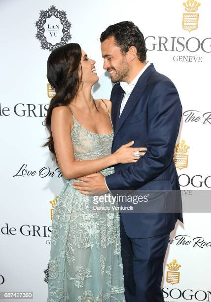 Sara Sampaio and Oliver Ripley attend the De Grisogono 'Love On The Rocks' party during the 70th annual Cannes Film Festival at Hotel du CapEdenRoc...