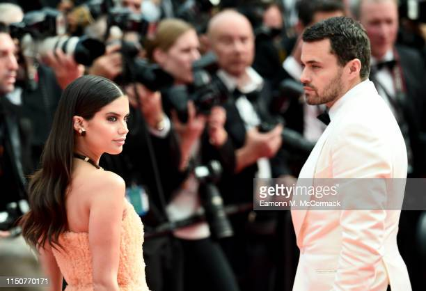 Sara Sampaio and Oliver Ripley attend the screening of Once Upon A Time In Hollywood during the 72nd annual Cannes Film Festival on May 21 2019 in...