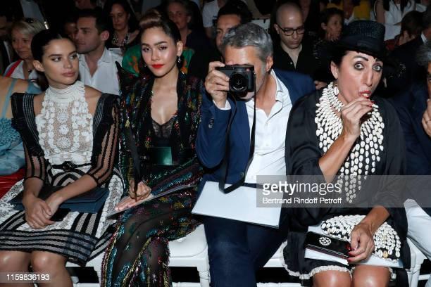 Sara Sampaio Araya Alberta Hargate Antoine de Caunes and Rossy de Palma attend the Jean Paul Gaultier Haute Couture Fall/Winter 2019 2020 show as...