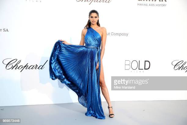 Sara Sampaio arrives at the amfAR Gala Cannes 2018 at Hotel du CapEdenRoc on May 17 2018 in Cap d'Antibes France