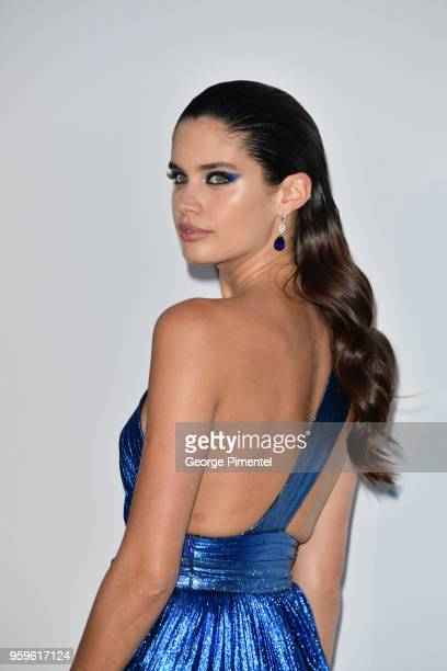 Sara Sampaio arrives at the amfAR Gala Cannes 2018 at Hotel du Cap-Eden-Roc on May 17, 2018 in Cap d'Antibes, France.
