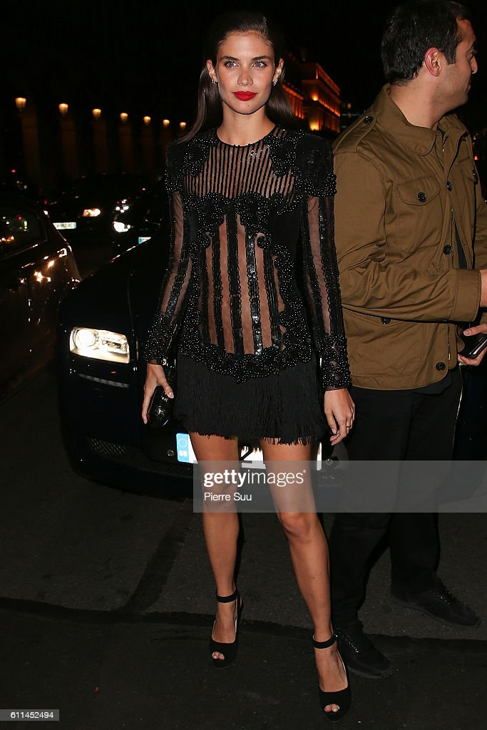 Balmain : AfterShow Party -Outside Arrivals  - Paris Fashion Week Womenswear Spring/Summer 2017 : News Photo