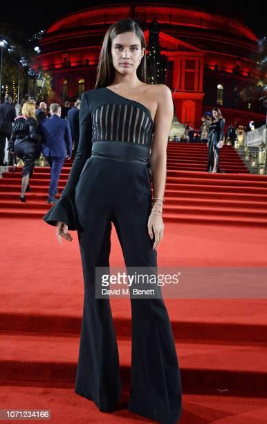 Sara Sampaio arrives at The Fashion Awards 2018 in partnership with Swarovski at the Royal Albert Hall on December 10 2018 in London England