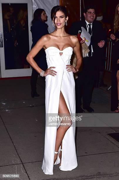 Sara Sampaio arrives to 2016 amfAR New York Gala at Cipriani Wall Street on February 10 2016 in New York City