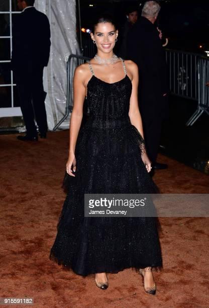 Sara Sampaio arrives to the 2018 amfAR Gala New York at Cipriani Wall Street on February 7 2018 in New York City